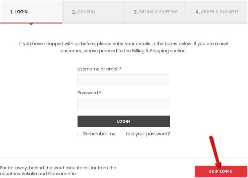 skip login