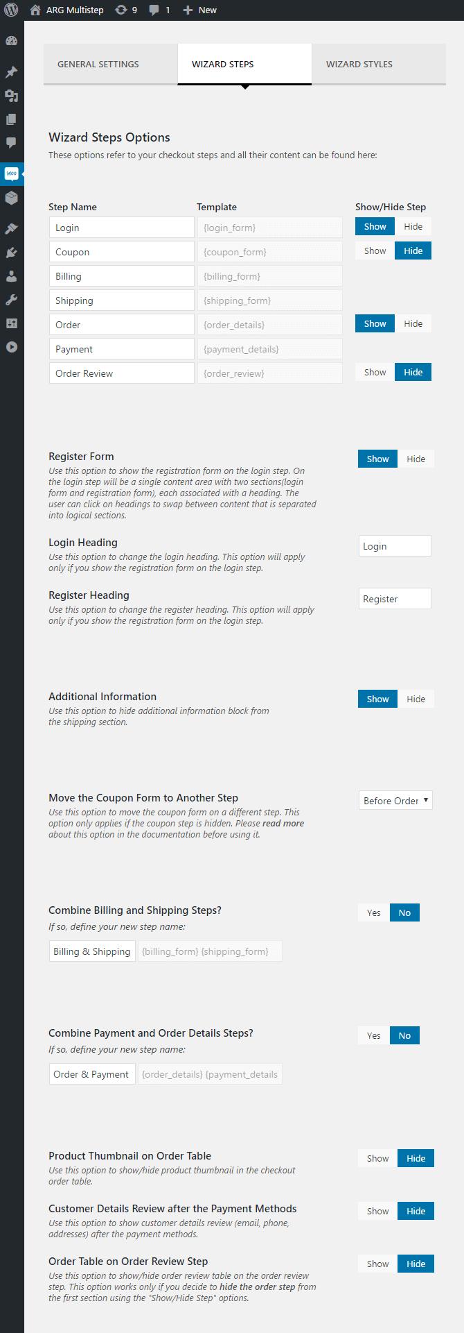Documentation – ARG Multistep Checkout for WooCommerce